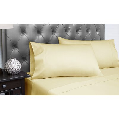Dejuan Organic 4 Piece 300 Thread Count 100% Cotton Sheet Set Size: Queen, Color: Gold