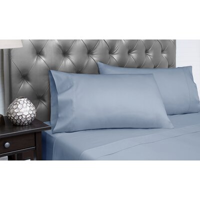 Dejuan Organic 4 Piece 300 Thread Count 100% Cotton Sheet Set Size: California King, Color: Dark Periwinkle