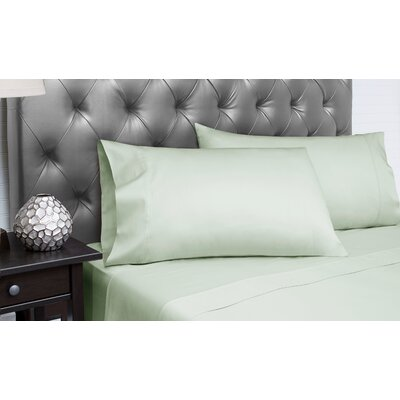 Dejuan Organic 4 Piece 300 Thread Count 100% Cotton Sheet Set Size: King, Color: Sage