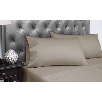 Dejuan Organic 4 Piece 300 Thread Count 100% Cotton Sheet Set Size: King, Color: Platinum