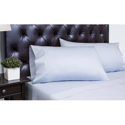 Meredosia 4 Piece 340 Thread Count Sheet Set Size: King, Color: Arctic Ice