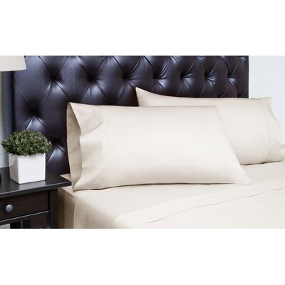 Meredosia 4 Piece 340 Thread Count Sheet Set Size: California King, Color: Platinum