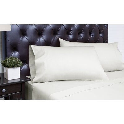 Meredosia 4 Piece 340 Thread Count Sheet Set Size: King, Color: Silver