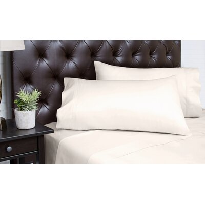Merrionette Organic Sateen 350 Thread Count 100% Cotton Sheet Set Size: California King, Color: Ivory