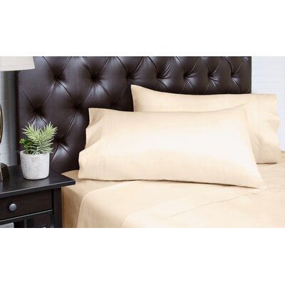 Merrionette Organic Sateen 350 Thread Count 100% Cotton Sheet Set Size: King, Color: Gold