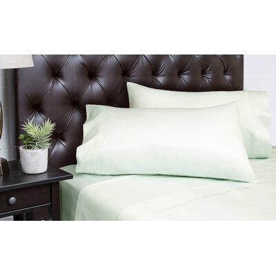 Merrionette Organic Sateen 350 Thread Count 100% Cotton Sheet Set Size: King, Color: Sea Foam