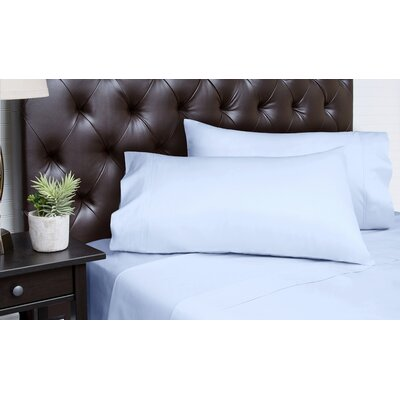 Merrionette Organic Sateen 350 Thread Count 100% Cotton Sheet Set Size: King, Color: Arctic Ice