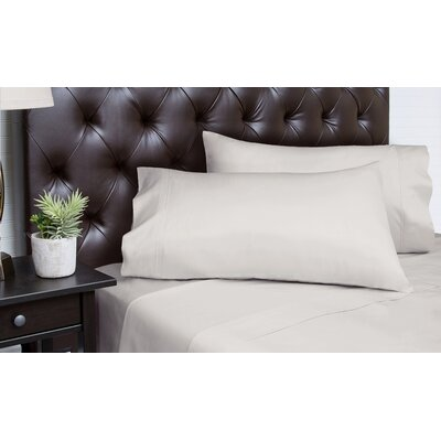 Merrionette Organic Sateen 350 Thread Count 100% Cotton Sheet Set Size: Queen, Color: Silver