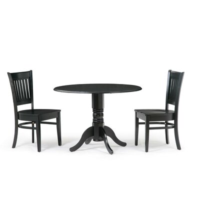 Thornhill 3 Piece Drop Leaf Dining Set Color: Black