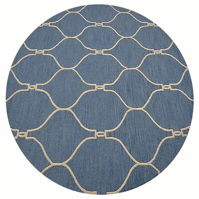 Bibbins Hand-Tufted Wool Blue Area Rug Rug Size: Rectangle 5' x 8'
