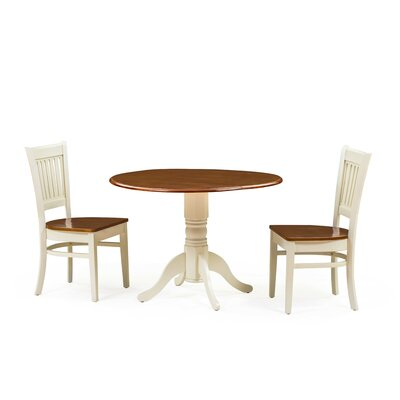 Thornhill 3 Piece Drop Leaf Dining Set Color: Buttermilk/Cherry