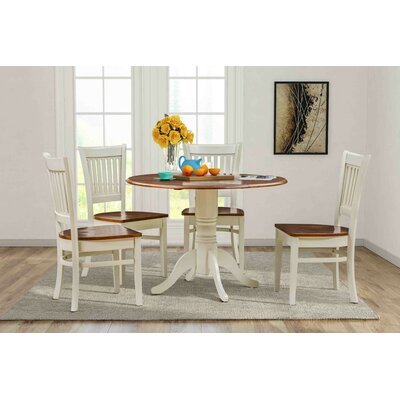 Thornhill 5 Piece Drop Leaf Dining Set Color: Buttermilk/Cherry
