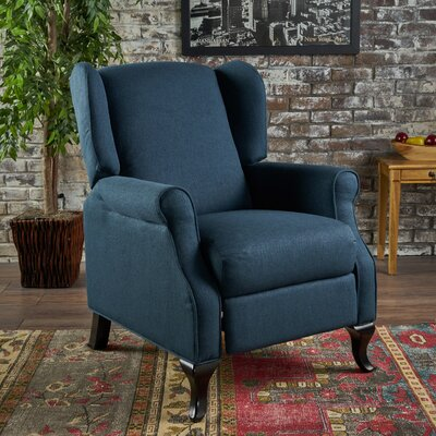 Blairsville Manual Recliner Upholstery: Navy Blue