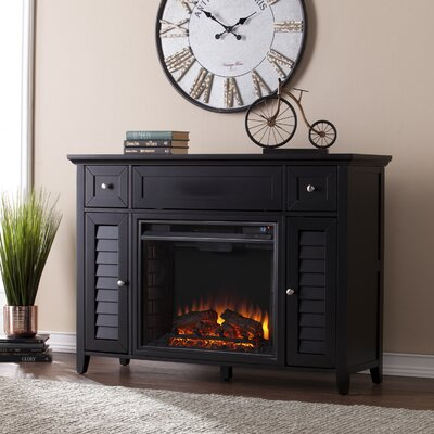Cherrywood 3-in-1 Media Electric Fireplace TV Stand Finish: Black