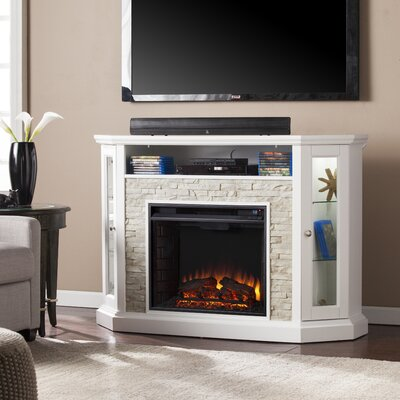 Montpelier Corner Convertible 50 TV Stand with Fireplace Color: White