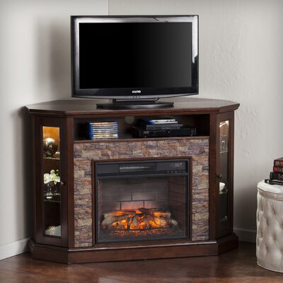 Montpelier Corner Convertible 50 TV Stand with Fireplace Finish: Espresso