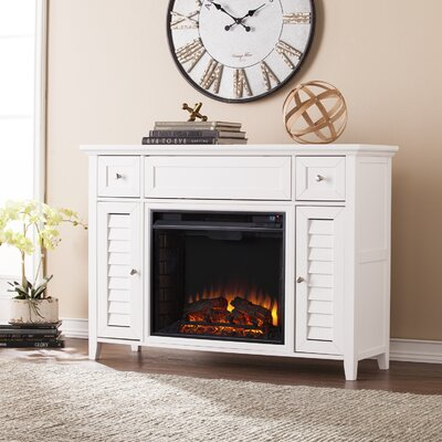 Cherrywood 3-in-1 Media Electric Fireplace TV Stand Finish: White