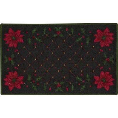 Catoctin Christmas Poinsettia Doormat