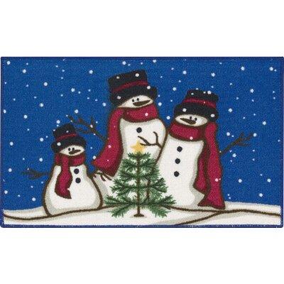 Poppasquash Christmas Snowmen Trio Doormat