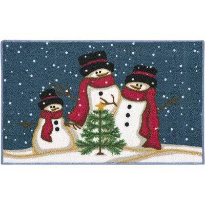 Carrow Christmas Snowmen Trio Doormat