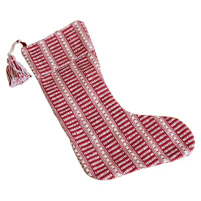 Cotton Christmas Stocking Color: Red/White