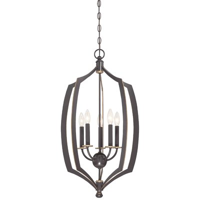 Stotts 5-Light Foyer Pendant Size: 30 H x 17 W x 17 D