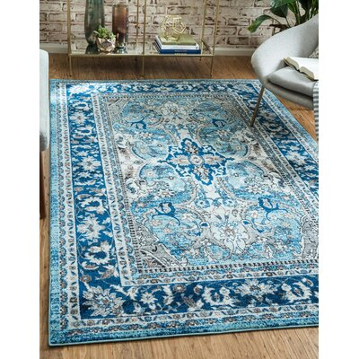 Tatham Blue Area Rug Rug Size: Rectangle 4' x 6'