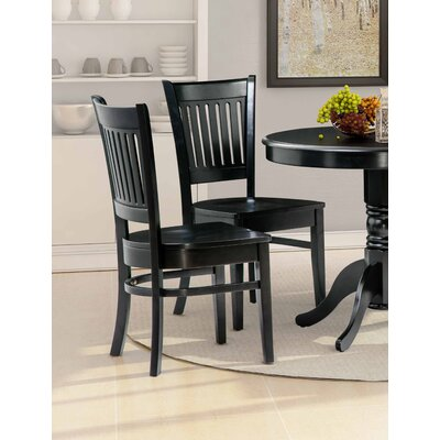 Corcoran Solid Wood Dining Chair Color: Black
