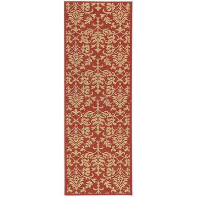 Bexton Hand-Woven Red/Natural Indoor/Outdoor Area Rug Rug Size: Runner 24 x 911