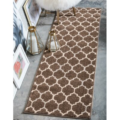 Moore Light Brown Area Rug Rug Size: Runner 27 x 8
