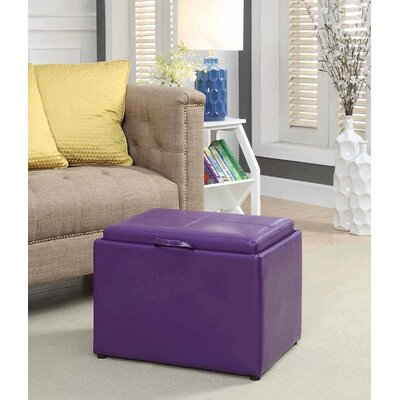 Marla Accent Storage Ottoman Upholstery: Plum