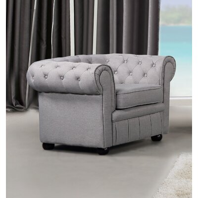 Mikkelson Armchair Upholstery: Light Gray