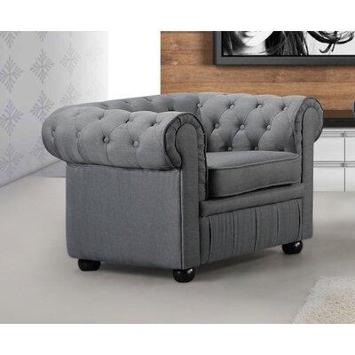 Mikkelson Armchair Upholstery: Dark Gray