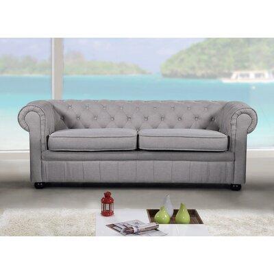 Mikkelson Chesterfield Sofa Upholstery: Light Gray