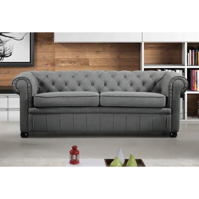 Mikkelson Chesterfield Sofa Upholstery: Dark Gray