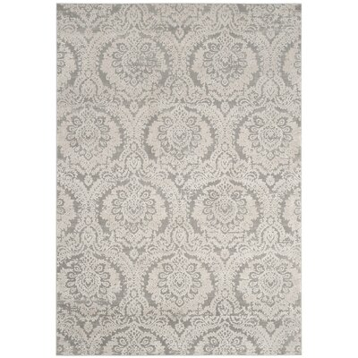 Van Andel Gray/Beige Area Rug Rug Size: Rectangle 51 x 76