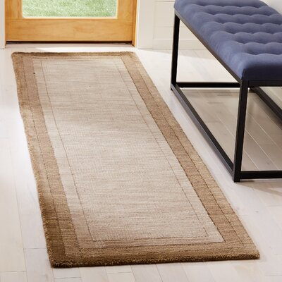 Dashiell Hand-Loomed Beige/Brown Area Rug Rug Size: Runner 23 x 8