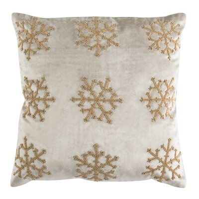 Kavanaugh Throw Pillow Color: Beige & Gold, Size: 20 H x 20 W x 3 D