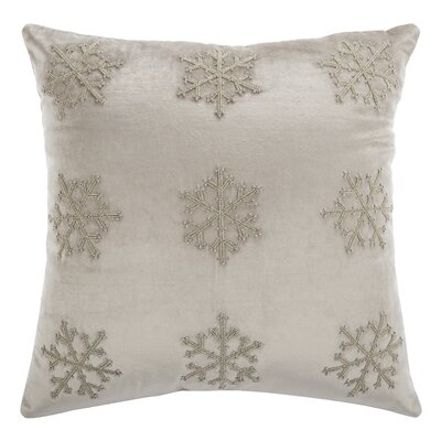Kavanaugh Throw Pillow Color: Beige & Silver, Size: 20 H x 20 W x 3 D