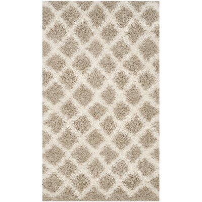 Laurelville Beige/Ivory Area Rug Rug Size: Rectangle 3 x 5