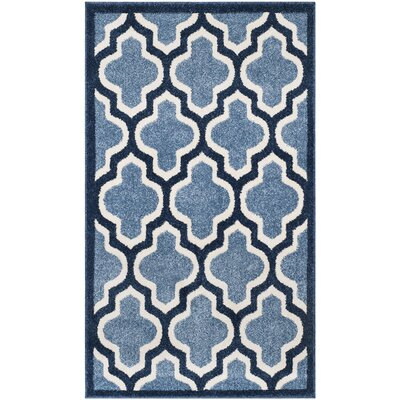 Amherst Light Blue/Navy Indoor/Outdoor Area Rug Rug Size: Rectangle 3 x 5