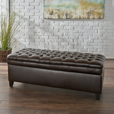 Cullins Storage Bench Upholstery: Brown