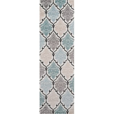 Kinsley Teal/Black Area Rug Rug Size: Runner 23 x 76