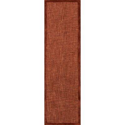 McCollum Hand-Tufted Rust Area Rug Rug Size: Runner 23 x 8