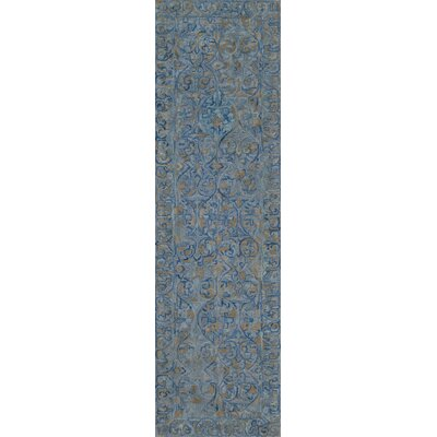 McCollum Hand-Tufted Blue/Gray Area Rug Rug Size: Runner 23 x 8