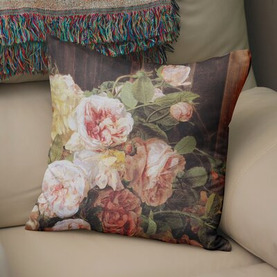 Lebaron Rose Mallow Throw Pillow Size: 24 H x 24 W x 6 D
