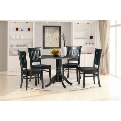 Thornhill 5 Piece Drop Leaf Dining Set Color: Black