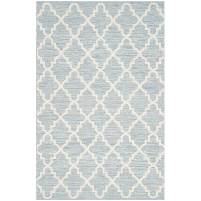 Valley Hand-Woven Light Blue/Ivory Area Rug Rug Size: Rectangle 4 x 6