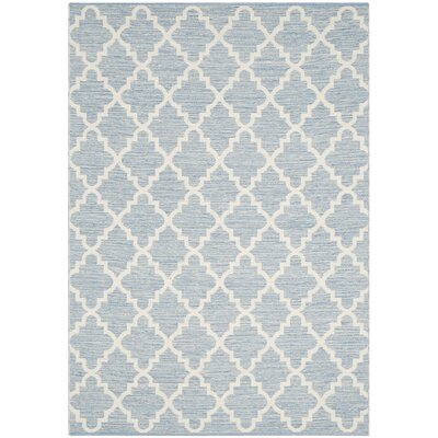 Valley Hand-Woven Light Blue/Ivory Area Rug Rug Size: Rectangle 5 x 8