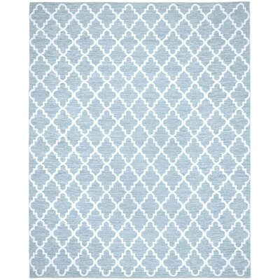 Valley Hand-Woven Light Blue/Ivory Area Rug Rug Size: Rectangle 8 x 10
